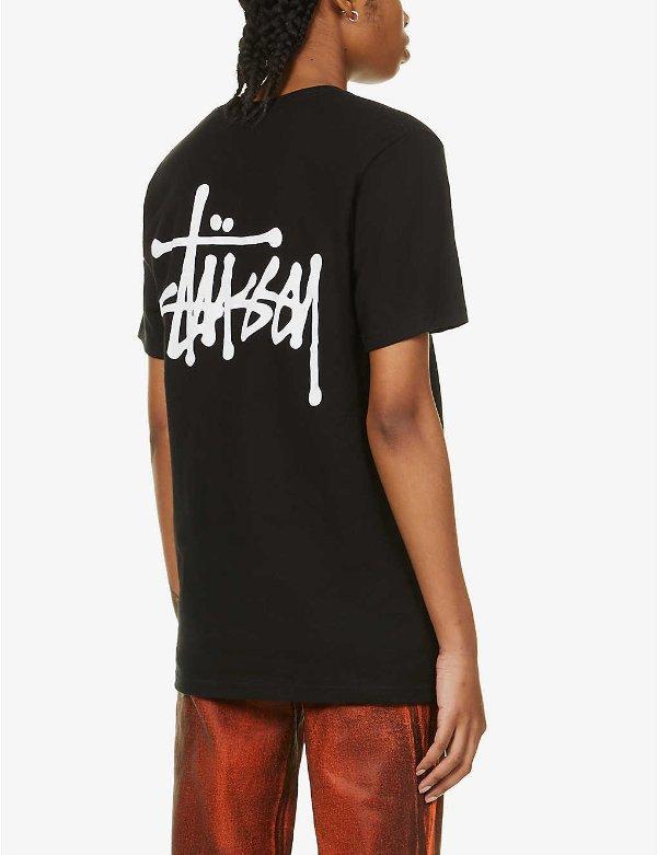 Basic logo-print T恤