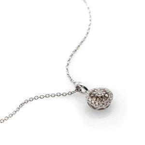 独家:Piero Milano 18k白金钻石吊坠项链