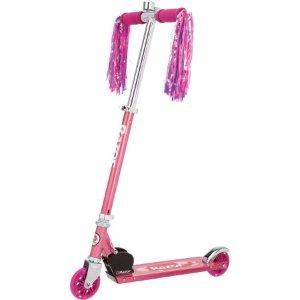 $24.94史低价:Razor A Kick 可折叠滑板车 粉色