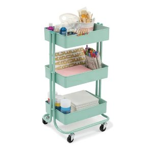 RecollectionsMint Lexington 3-Tier Rolling Cart By Recollections™