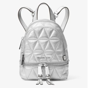 a3d8680e263f Michael KorsRhea Mini Metallic Quilted Leather Backpack
