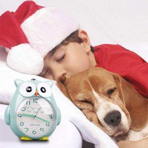 折后仅€13.59 从此再没起床气KOROTUS 可爱猫头鹰儿童闹钟 自带柔和小夜灯