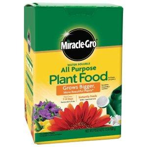 $3.98(原价$10.9)Miracle-Gro 水溶性化肥 8oz 种植蔬菜瓜果必备