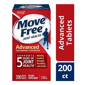 Glucosamine & Chondroitin Advanced Joint Health Supplement Tablets, Move Free (200 count in a bottle)