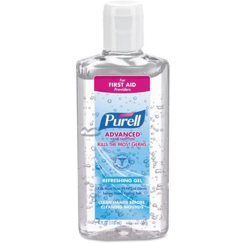 $87.4Purell Instant Hand Sanitizer 4oz Squeeze Bottle with flip top 24 per case