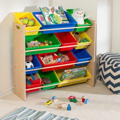 Honey-Can-Do Kids Toy Organizer and Storage Bins, Gray