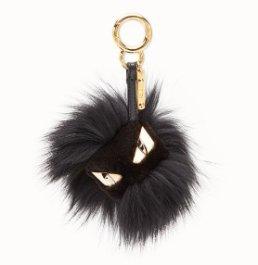 Black fur charm - BAG BUGS CHARM | Fendi | Fendi Online Store