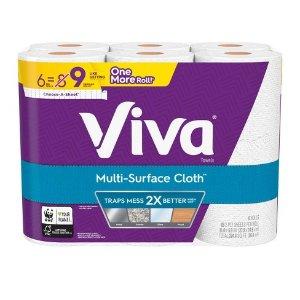 $5.51Viva Multi-Surface Cloth Choose-A-Sheet Paper Towels - 6 Big Rolls