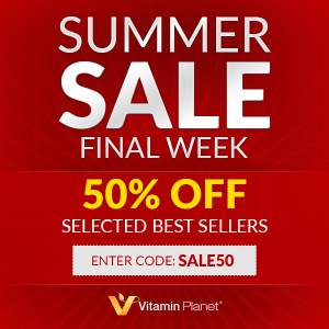 无门槛5折!可邮回国!Vitamin Planet 官网夏促最后一周 畅销明星单品热卖中