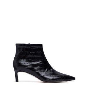 鳄鱼纹短靴