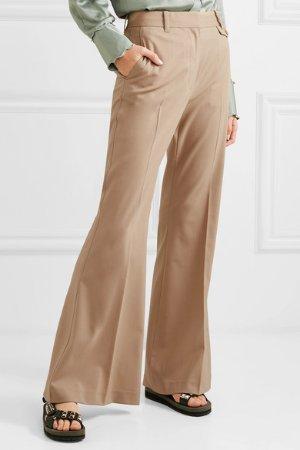 3.1 Phillip Lim   羊毛混纺喇叭裤   NET-A-PORTER.COM