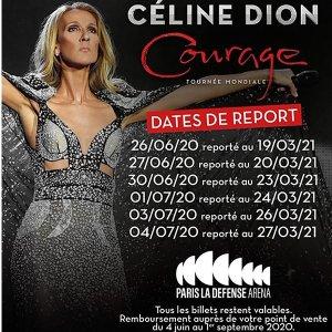 """3月19日到3月27日席琳迪翁 2021""""勇气""""世界巡回演唱会法国站即将开唱"""