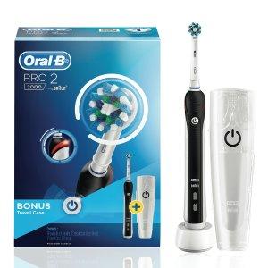 $84.76 (原价$159.99) 平价好用Oral-B 升级版 Pro 2 2000 电动牙刷热卖 蓝黑可选