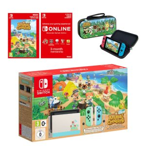 Nintendo动森限定机+豪华保护壳+电子游戏版+3个月会员