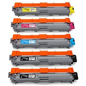 $29 Office World Compatible Toner Cartridge Replacement for Brother TN221 TN-221 TN225 TN-225 (2 Black, 1 Cyan, 1 Magenta, 1 Yellow)
