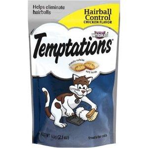 Temptations鸡肉味控制毛球猫咪零食 2.1oz
