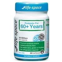 5折 调节肠胃、增强免疫力超值价:Life Space  60+岁老年人益生菌  60粒