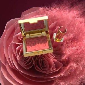 送精华3件套+9折Estee Lauder 微醺仙女腮红、经典玫瑰豆沙420尽显好气质