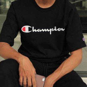From $13Champion Men's Classic Jersey Script T-Shirt