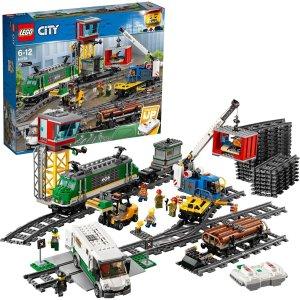 折后€137.9 打造交通枢纽LEGO 城市系列 60198 货运火车 支持蓝牙遥控