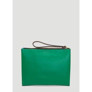 MarniBi-Colour Clutch in Green