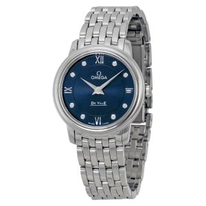 OmegaDeVille Prestige Blue Diamond Dial Ladies Watch