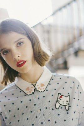 Kitten on Mars Long Shirt - Miss Patina - Vintage Inspired Fashion