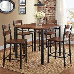 $147.43 (原价$219)Better Homes & Gardens 餐桌餐椅5件套