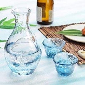 直邮含税到手价$60起窑烧酒杯器皿 日本匠人制作琉璃盏 渐变星空杯喝水都美丽