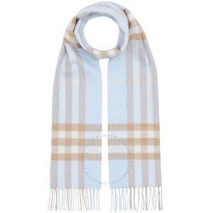 BurberryThe Classic Check 婴儿蓝围巾