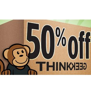 50% off SitewideMoving Day on Sale @ThinkGeek