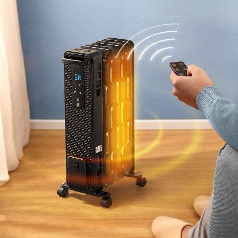 TaoTronics 1500W Oil Filled Radiator Heaters with 3 Heating Mode