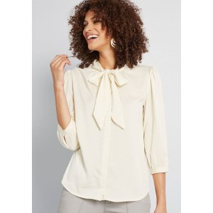Extra 25% off orders of $125Vanilla Milk Button-Up Top