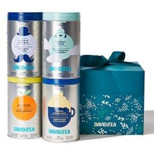 DAVIDsTEA铁罐茶*4+精美礼盒和妈妈是好朋友礼包
