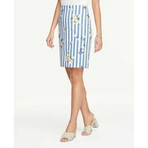 Ann Taylor Extra 20% Off $100Striped Pencil Skirt