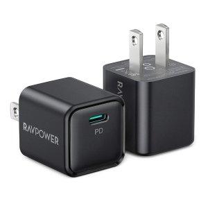 $11.69 超小体积RAVPower 20W USB-C 快充充电器 2件装