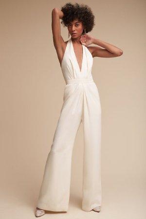 Mara Jumpsuit Ivory  in  Bridesmaids & Bridal Party | BHLDN