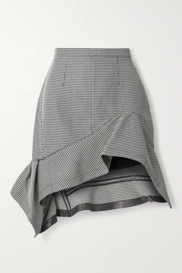Asymmetric ruffled 半身裙