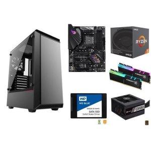 $550.98 静待显卡发售AMD RYZEN 5 2600 + ROG B450-F + 幻光鸡16GB + 蓝盘500GB + 追风者PH-EC300PTG + CORSAIR CX650