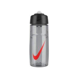 Nike T1 Flow Swoosh 水瓶 473mL - Wolf Grey/Bright Crimson