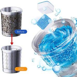 $9.99收7颗装洗衣机深层清洁剂 适用于所有款式洗衣机 定期为TA洗个澡