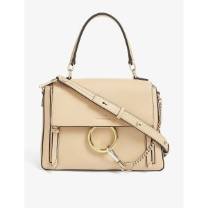ChloeFaye leather and suede satchel bag