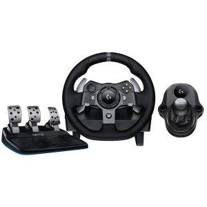 $244.99Logitech 罗技 G920 力反馈赛车游戏方向盘(带踏板+换挡器)