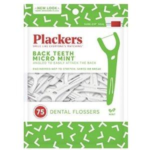 $2.24 (原价$7.00)再降:Plackers 薄荷味极细牙线棒 75个