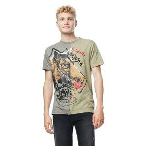 Short-sleeved green T-shirt - Urist | Desigual.com