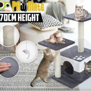 $34.9(原价$99)猫咪玩具爬架70cm促销