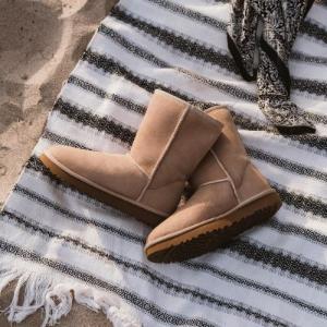 低至6折UGG官网 雪地靴专场 经典款$120,粉色$140