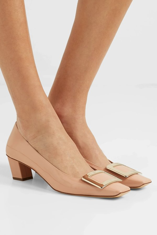Belle Vivier 粗跟鞋