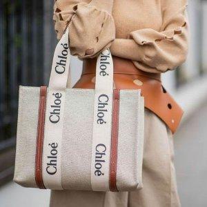 变相72折 €212收爆款绑带鞋Chloe 全场闪促 €496收封面同款Woody托特包 €396收菜篮子