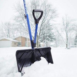 $18.74(原价$24.98) 销量冠军史低价:Snow Joe 双手柄18吋省力雪铲特惠 冬天居家必备